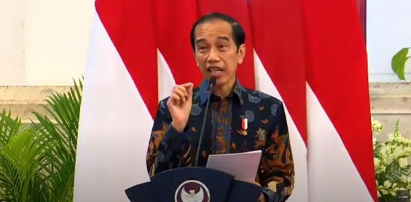 Gambar menunjukan Presiden Jokowi