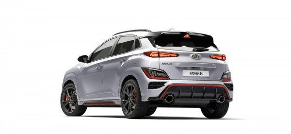 Tampilan belakang Hyundai Kona N