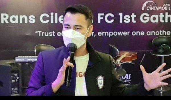 Gambar Raffi Ahmad owner Rans Cilegon FC
