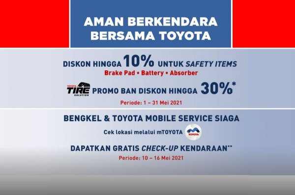 Gambar banner Diskon sparet part Toyota