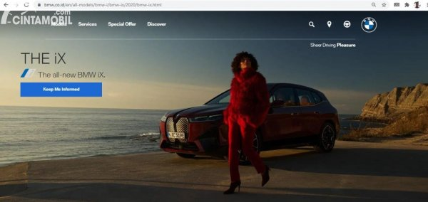Sosok BMW iX yang nongol di Situs BMW Indonesia