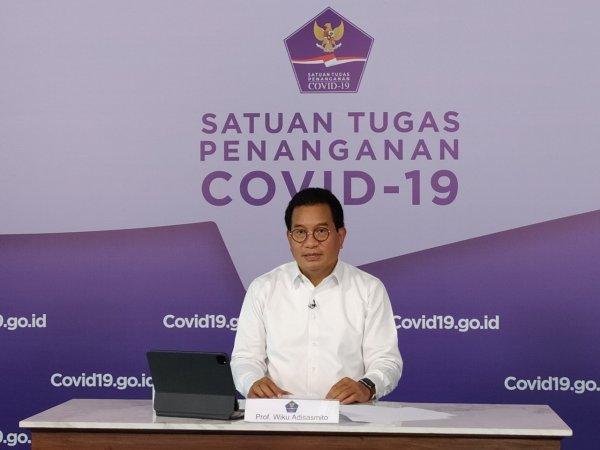 Foto Juru Bicara Satgas COVID-19, Wiku Adisasmito melakukan konferensi pers Kamis, 20 Mei 2021.