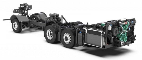 Sasis triple axle buatan Volvo B11R