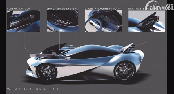 desain mobil James Bond Genesis X 007