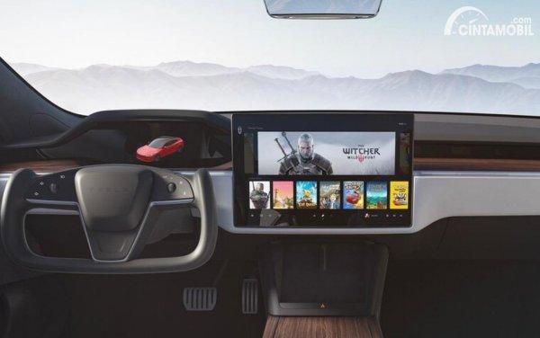 Tesla yang bisa digunakan untuk menonton Netflix