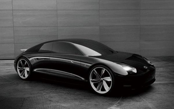 Foto Hyundai Prophecy Concept tampak samping depan