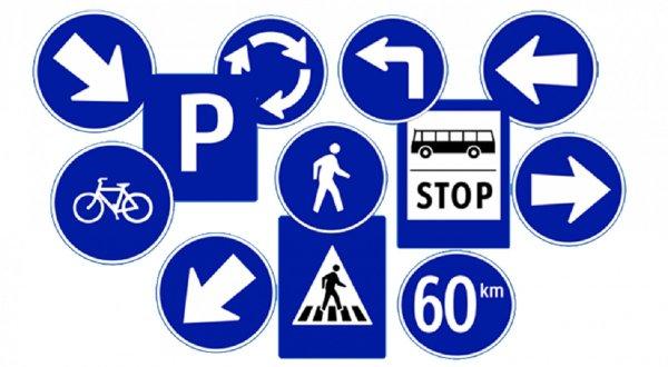 Gambar menunjukan Rambu lalu lintas