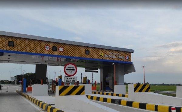 Foto Gerbang Tol Sragen Timur