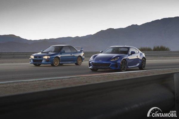 Gambar Subaru Impreza Colin McRae dan Subaru BRZ