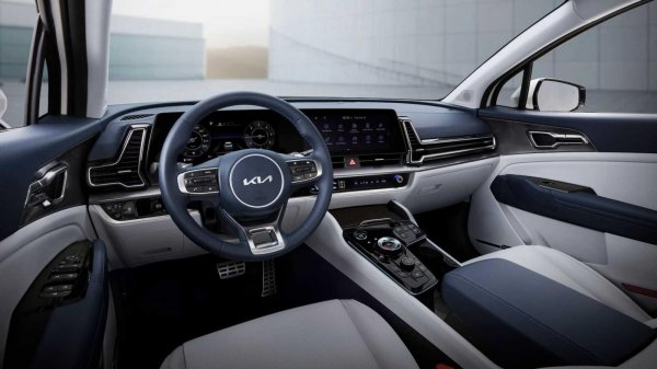 Gambar menunjukan interior Kia Sportage