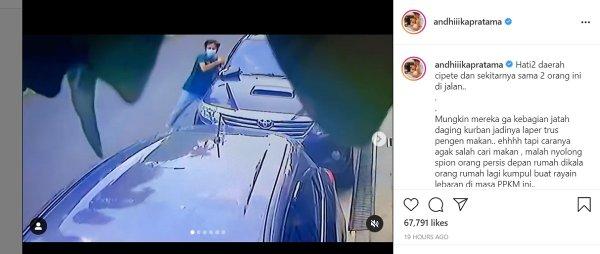 Gambar menunjukan pencurian Spion mobil