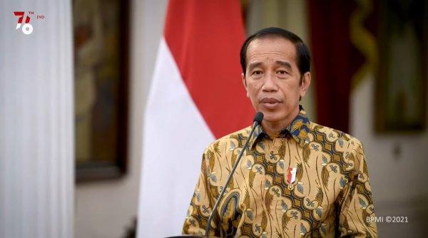 Foto Presiden Jokowi saat mengumumkan perpanjangan PPKM tahap ketiga
