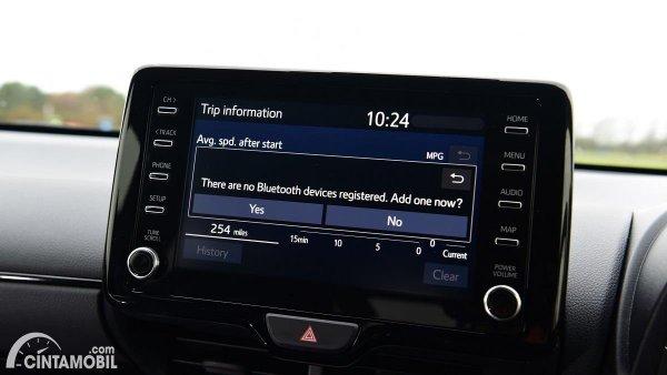 fitur Toyota GR Yaris 2021 dengan head unit