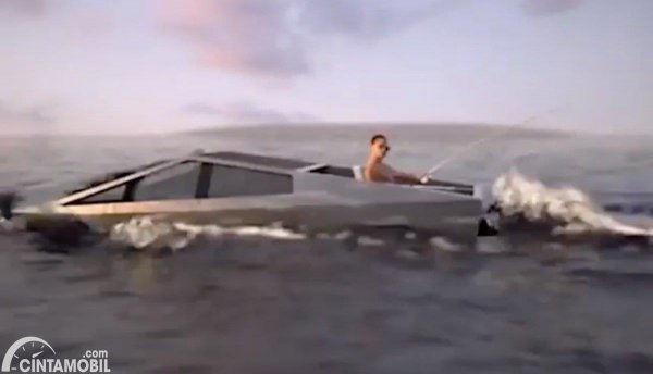 Tesla Cybertruck yang disebut bisa mengarungi air