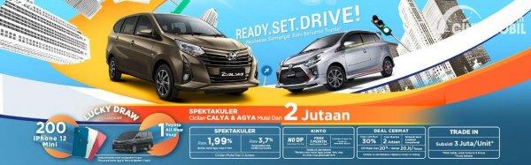 Gambar promo Toyota Calya dan Toyota Agya