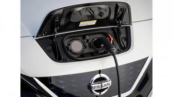 Gambar menunjjukan Nissan Leaf