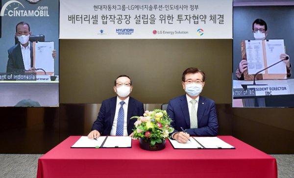 gambar MoU Hyundai dan LG