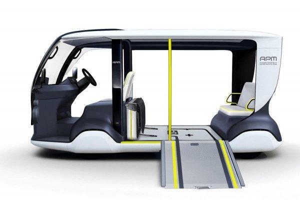 jalur kursi roda pada mobil listrik Toyota