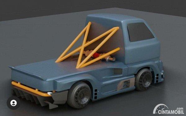 Gambar tampilan belakang RC Suzuki Carry Cyberpunk