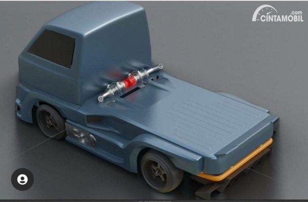 Gambar tampak belakang RC Suzuki Carry Cyberpunk