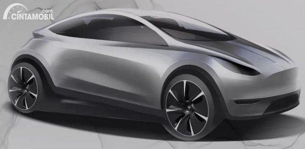 versi konsep mobil listrik Tesla Model 2