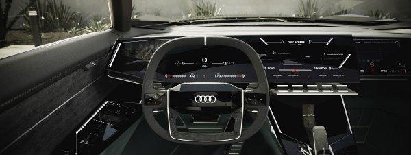 Gambar menunjukan interior Audi