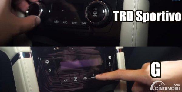 Perbedaan AC Rush G dan TRD