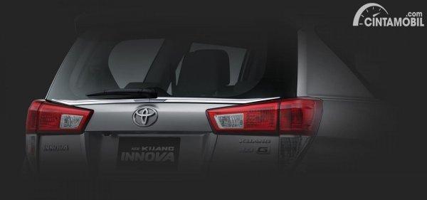 Back Door Glass Chrome List Innova