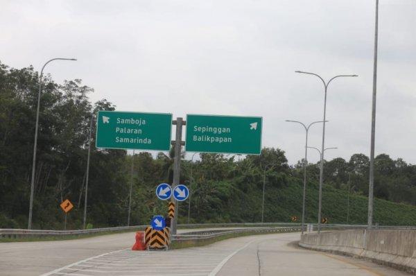 Foto Jalan Tol Balikpapan-Samarinda