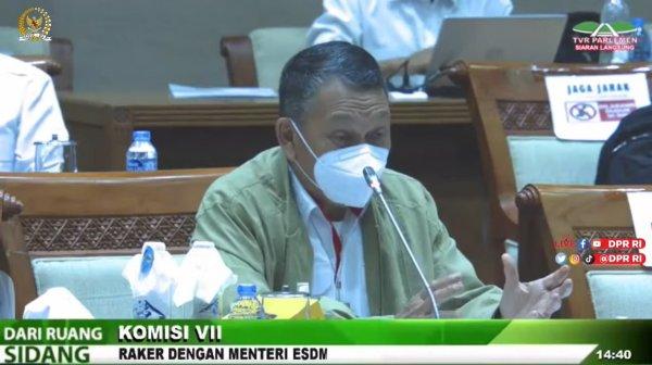 Foto menunjukkan Menteri ESDM Arifin Tasrif