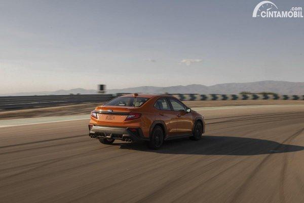 Subaru WRX 5th gen terbaru berwarna cokelat
