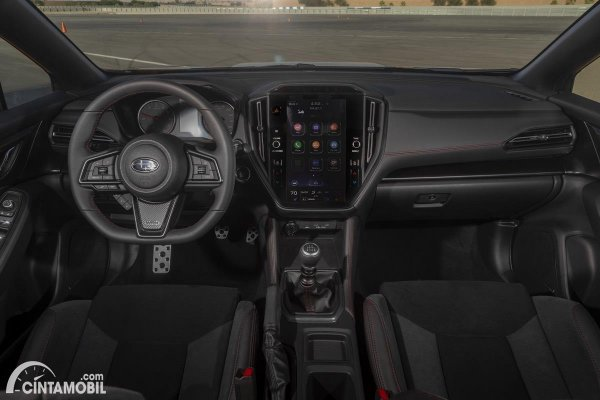 interior Subaru WRX generasi kelima berwarna hitam